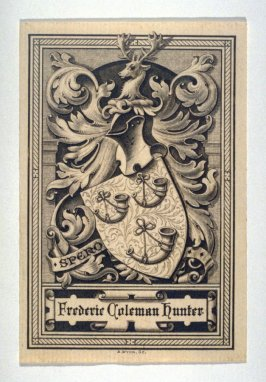 Bookplate for Frederic Coleman Hunter