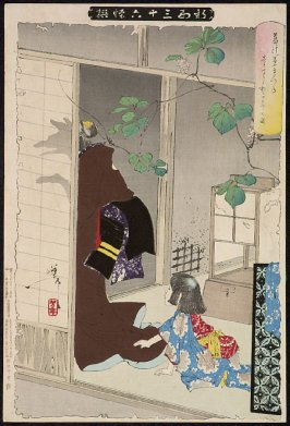 The Fox Woman Leaving Her Child from the series Shinkei sanjurokkaisen (Thirty-Six Ghosts and Demons)