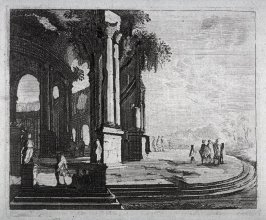 One of 12 Prints of Ancient Architectural Scenes