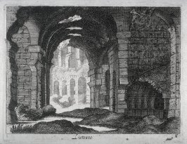 One of 12 Prints of Ancient Architectural Scenes: Listesso