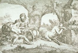 The Education in Music of the young Achilles by the Centaur Chiron