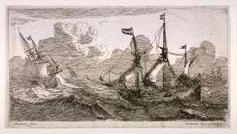 Two Sips at Rough Sea, right a flute-ship