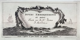 Cartouche, title page: Divers embarquements