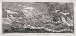 Sailing Vessels at Stormy Sea