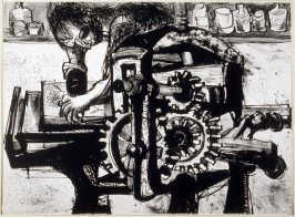 Stone Flower (Man working at lithography press)