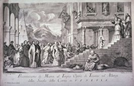 Presentation of the Virgin in the Temple, after Titian's painting in the Galleria Accademia, Venice