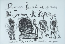 Title page (1st illustration) in the book Die Irren-Die Häftlinge by Thomas Bernard (Berlin: Galerie auf Zeit, 1994)