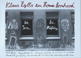Promotional poster for the book Die Irren-Die Häftlinge by Thomas Bernard (Berlin: Galerie auf Zeit, 1994)