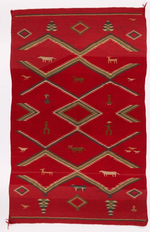 Germantown pictorial blanket/rug