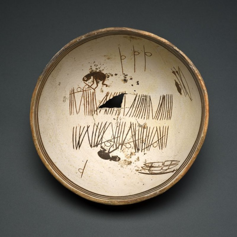 Bowl (Two Figures in Narrative Scene)