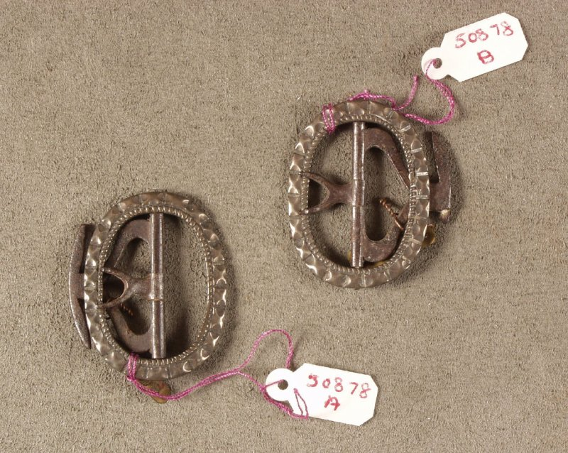 Two shoe buckles