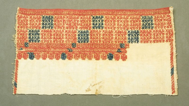 fragment of embroidered garment