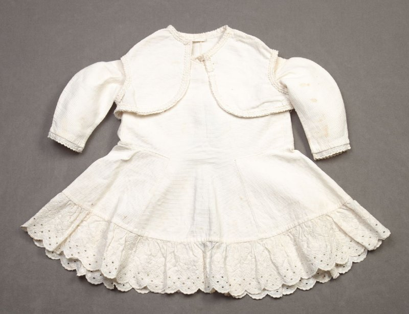 Ensemble: infant's dress with matching bolero vest