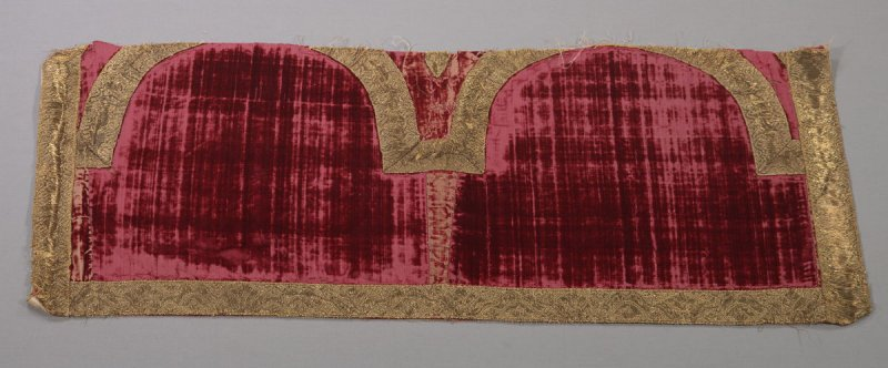 One of two matching drapery fragments