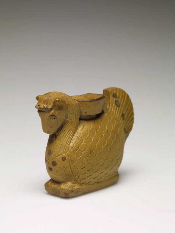 Perfume Vessel in the shape of a Hippalektryon (horse-rooster)