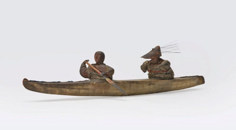 Two-person bidarka model