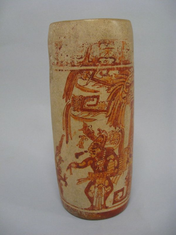 Cylinder vase with dancing lord