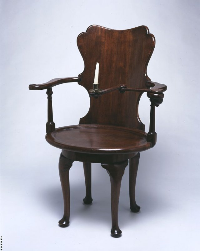 George I Reading Chair with Candle Holder and Book Holder