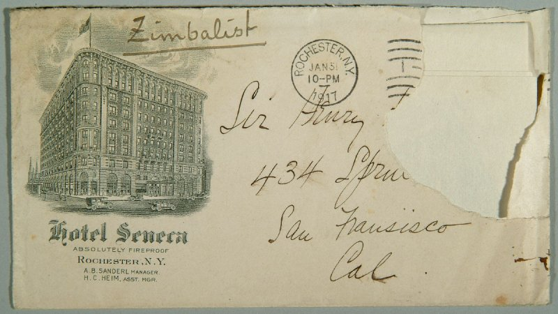 letter from Efram Zimbalist to Henry Heyman