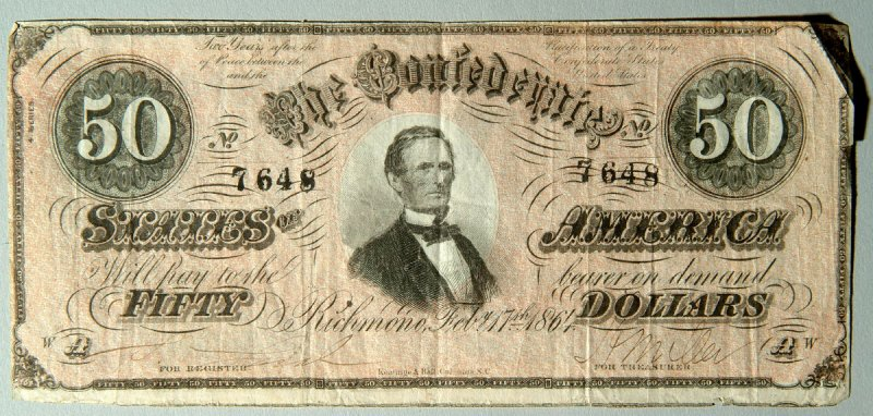 Confederate State of America, Fifty Dollar Bill
