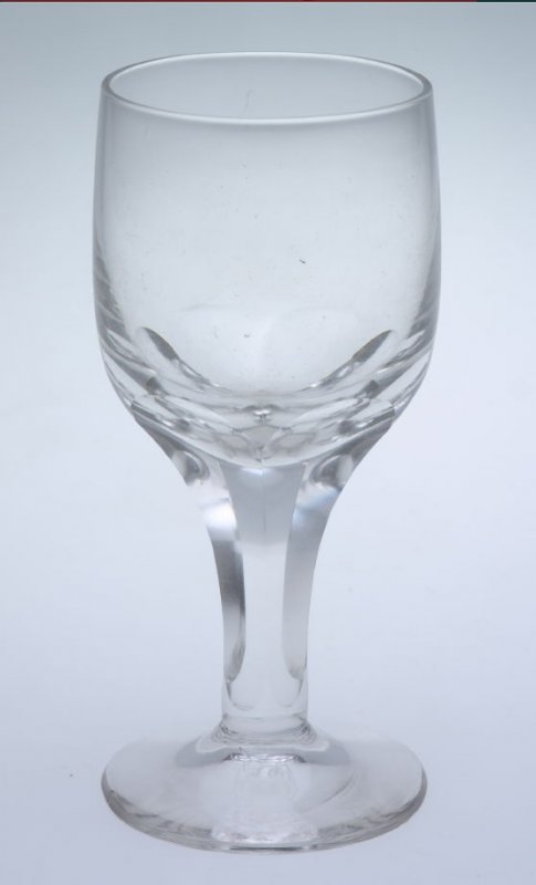 Wine glass Blown and cut