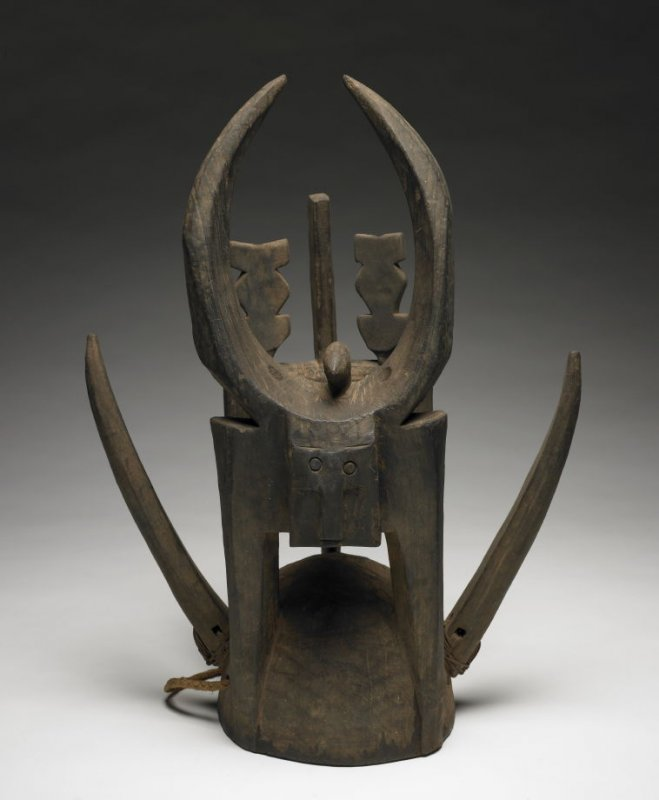 Helmet Mask with Horns