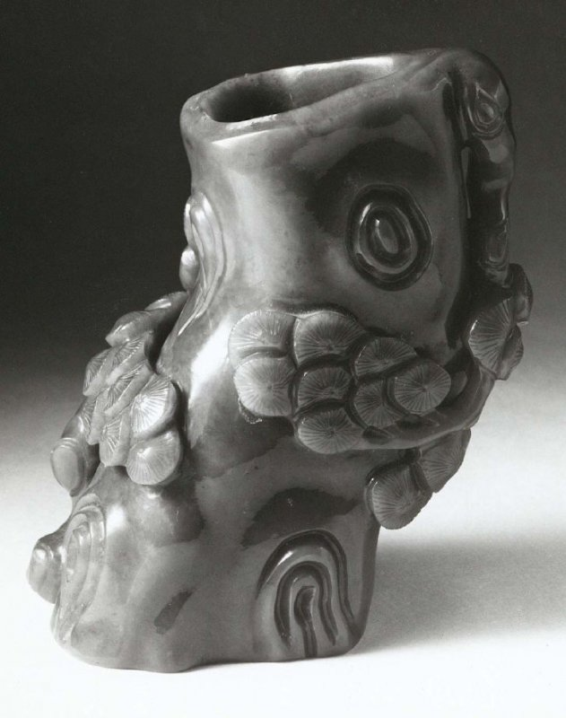 Vessel in form of a pine root