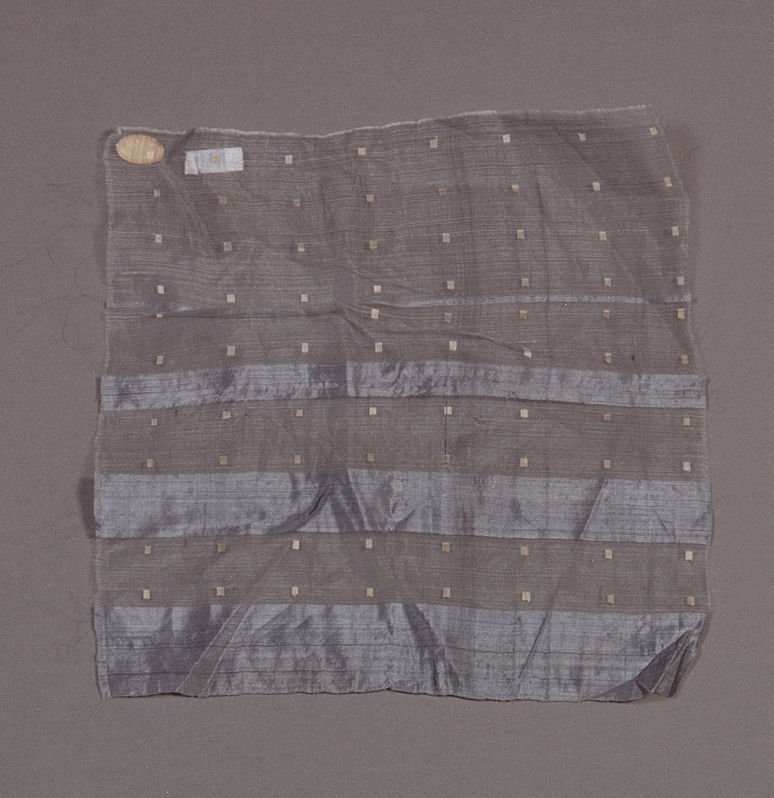 Cloth gray stripes with white squares
