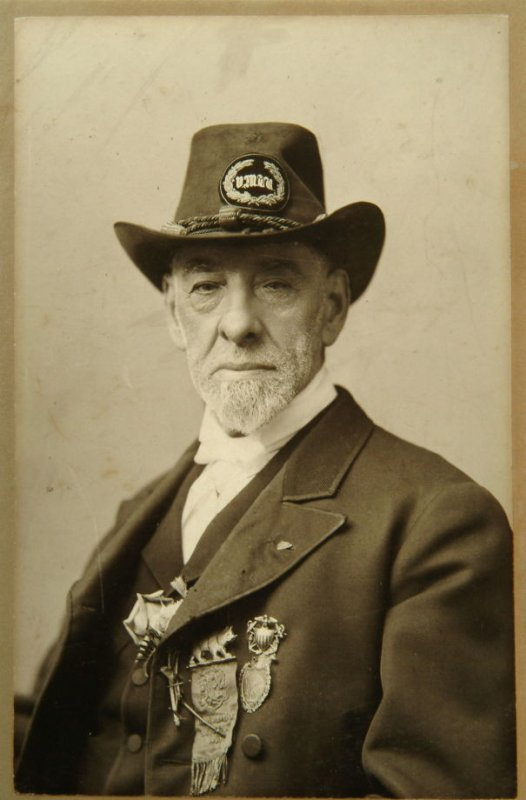 James Lewis Martel (bust - wearing hat and medals)