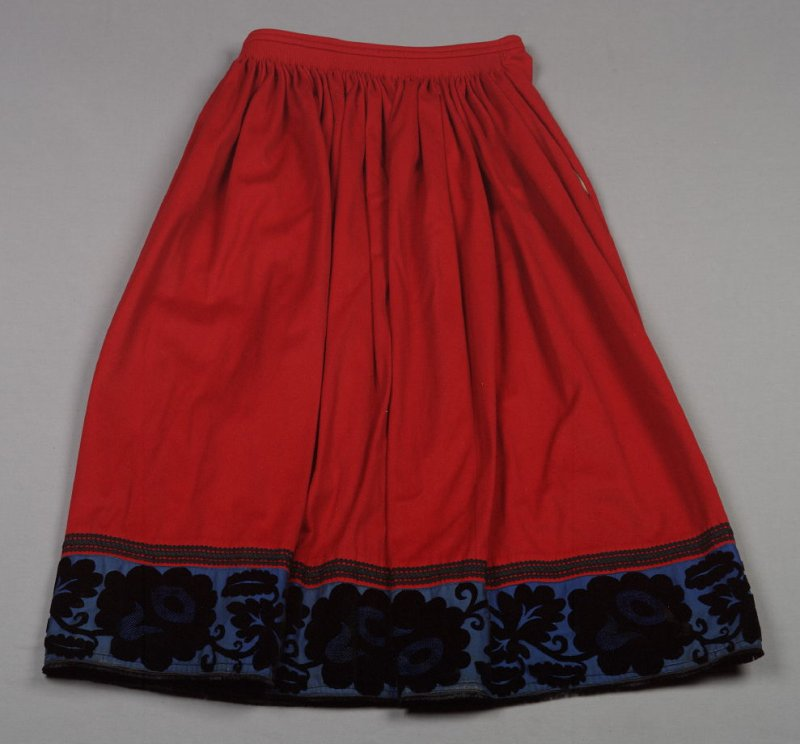 Skirt from German peasant costume (61.24.1 - 61.24.12)