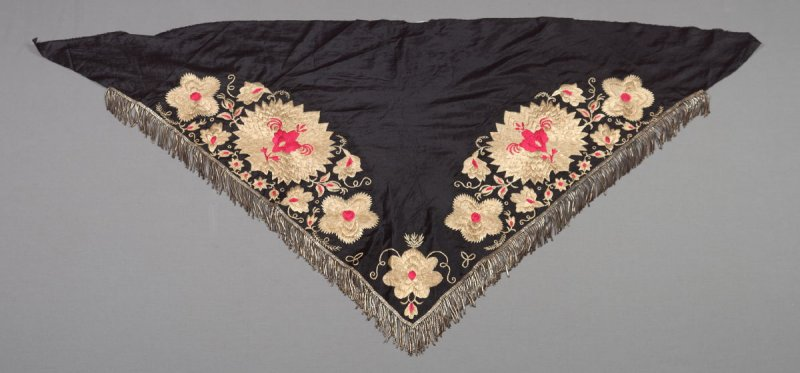 Shawl or neckerchief from German peasant costume (61.24.1 - 61.24.12)