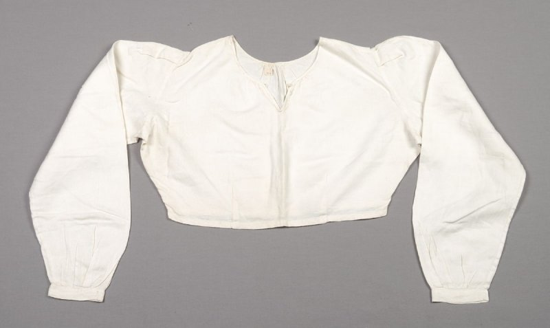Blouse white linen