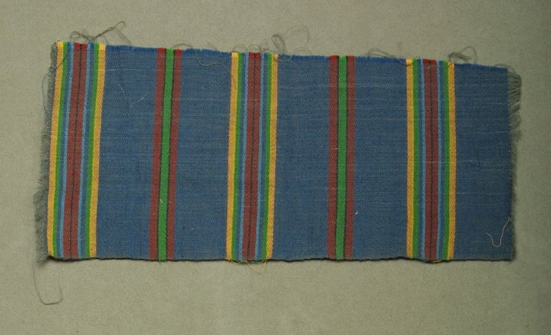 Fragment with blue, red green and yellow stripes