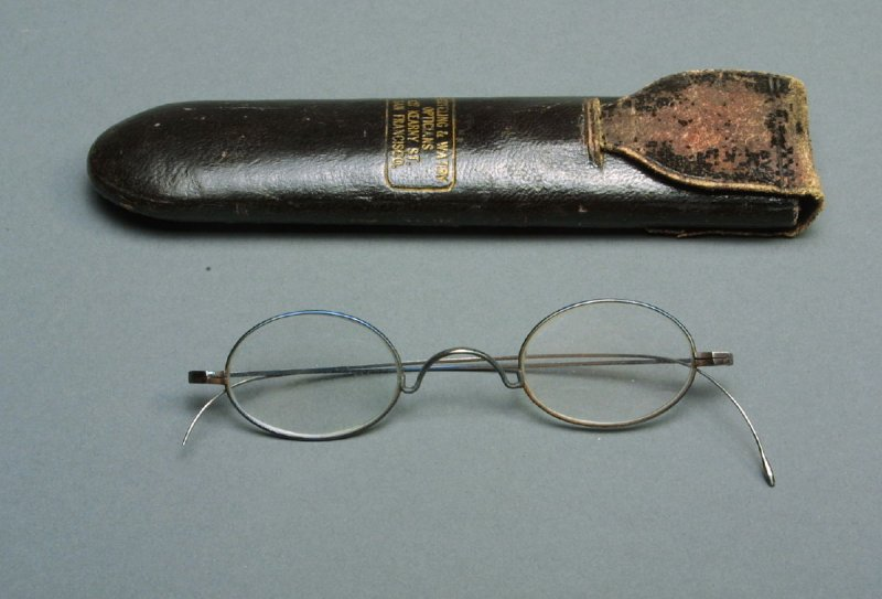 Pair of spectacles and case