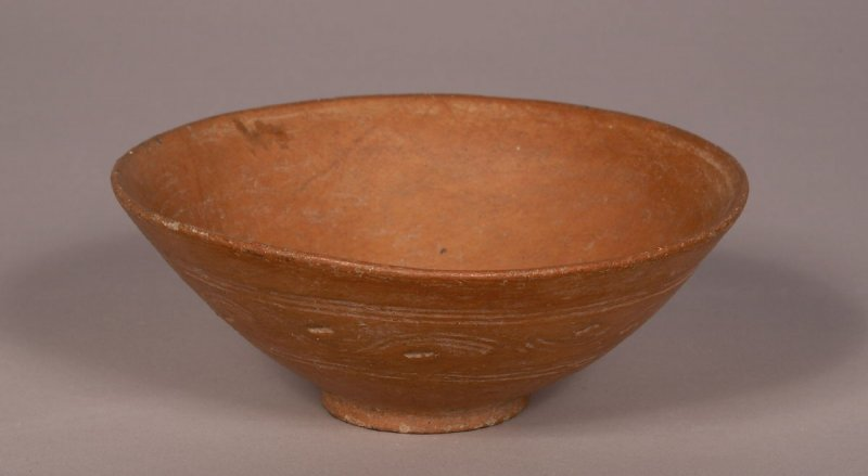 Orange-Ware Bowl with Delicate Incised Decoration