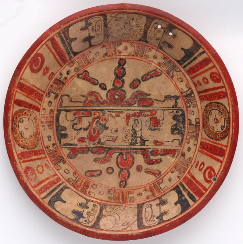 Plate with godhead