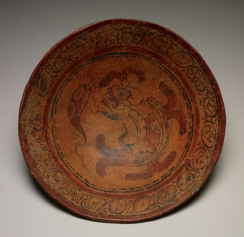 Plate with Large and Small Fish