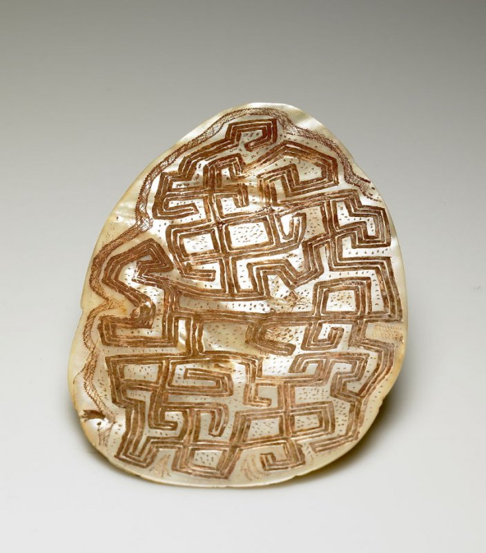 Incised Shell with Abstract Design