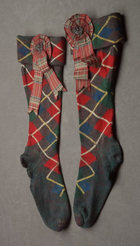 Tartan hose (part of man's highlander ensemble)