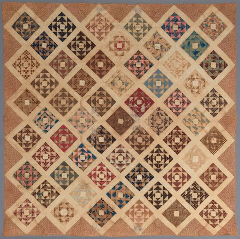 """Friendship"" Quilt: ""Nine-patch"" pattern"