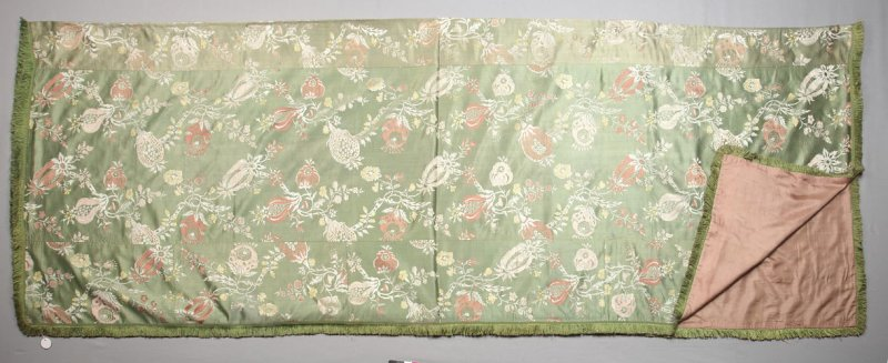 Brocade table or bed cover