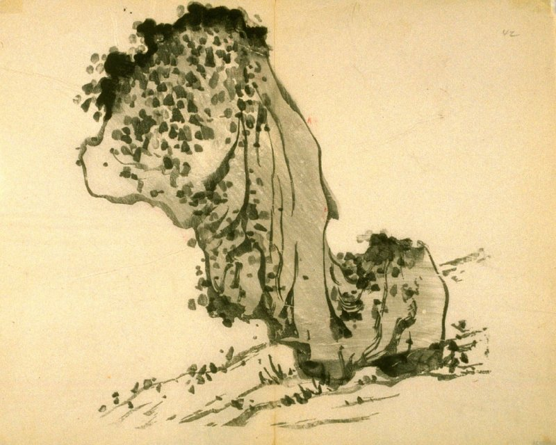 One from the Volume on Stones - from: The Treatise on Calligraphy and Painting of the Ten Bamboo Studio