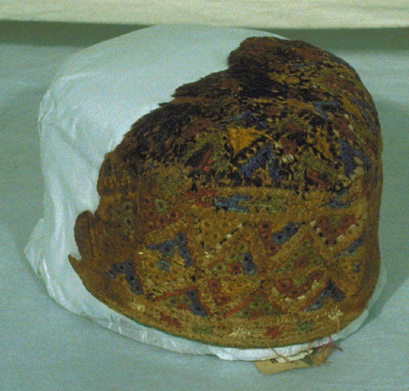 Fragment of an embroidered cap