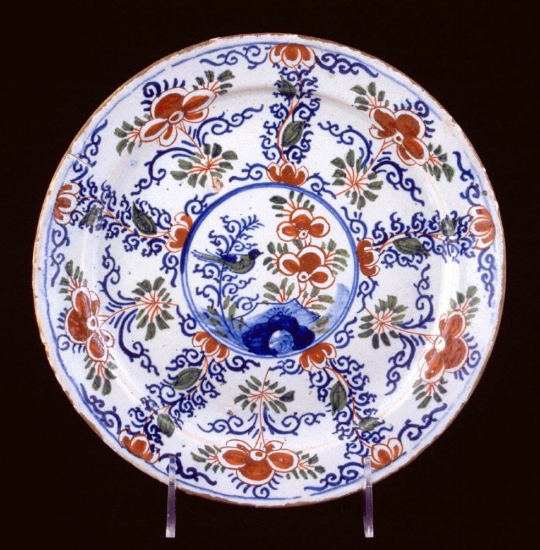 Plate Chinoisserie design