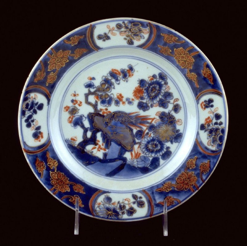Plate with Johanneum inventory mark