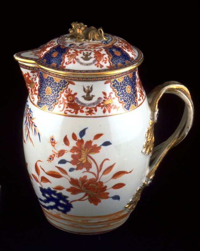 Covered pitcher, with crest of Sir Joseph Williamson