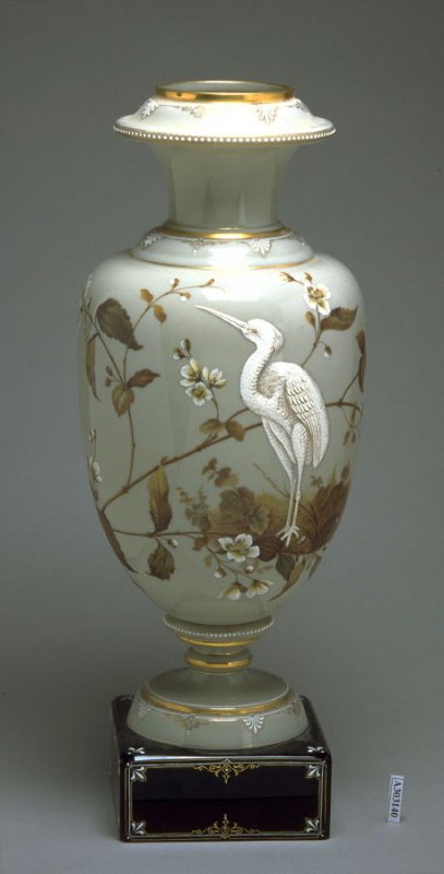Footed vase (matches X1985.23.2) with square black base