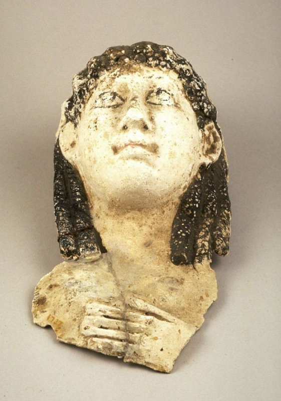 Female face from a coffin