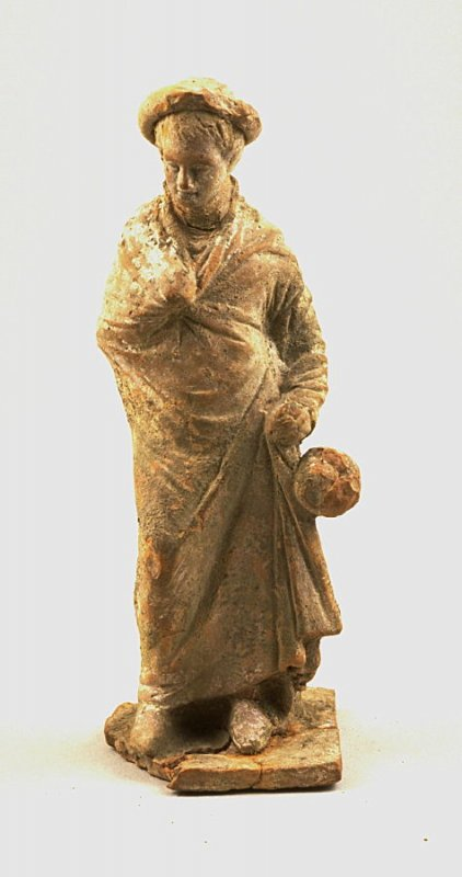 Standing draped male figure with hat