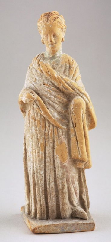 Small standing draped female figure